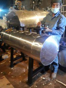 steam header boiler 1