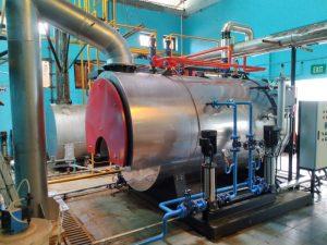 steam boiler dual fuel 2 ton
